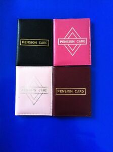 NEW Pension Bus Pass Oyster Card Holder in Black Pink Burgundy SAMEDAY POST