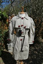 Dsquared2 Trench Coat Red Buttons Beige Runway BNWT 46 XL 14