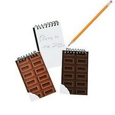 Pack of 4 - Chocolate Bar Spiral Notebooks - Party Loot Bag Fillers