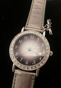 Silver Star Angel Ladies Watch  Exclusively Made For Parlux Fragrances Leather