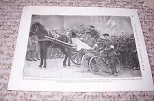 1919 PARTY OF GERMAN OFFICERS WITH WHITE FLAG FOR TRANSFER Print Photograph WWI
