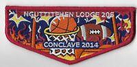 Boy Scout OA 205 Nguttitehen Lodge 2014 Conclave Flap