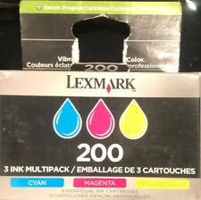 New Genuine Lexmark 200 3 Ink Cartridge 14L0268 Cyan Magenta Yellow- New