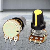 1X(5pcs 10K OHM 3 Terminal Linear Taper Rotary Audio Type B Potentiometre D3U GH