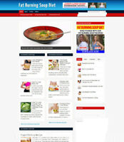 FAT BURNING SOUP DIET WEBSITE UK AFFILIATES + DOMAIN & HOSTING - FREE SSL CERT