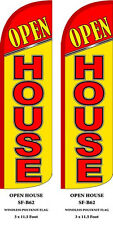 Open House (Yellow)Feather Flags Banner Sign Same Day Ship