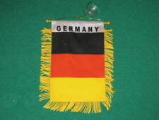 German Plain MINI BANNER FLAG GREAT FOR CAR & HOME WINDOW MIRROR HANGING 2 SIDED