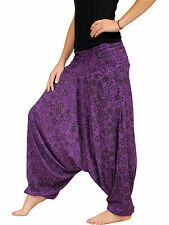 SAROUEL Coton Jersey (34 36 38 40 42 44 46 48) taille unique Violet fleur noir