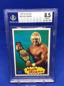 1985 Topps WWf Hulk Hogan Rookie RC BGS 8.5 #16 HOT Wrestling