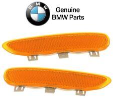 Set of 2 Front Bumper Reflector Lenses Genuine For BMW E46 323ci 325ci 330ci M3