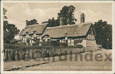 STRATFORD-UPON-AVON Shakespeare's Wife's Home Postcard nr Warwick WARWICKSHIRE