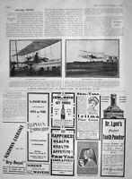 Original Old Antique Print 1907 Aeroplane Henri Farman Issy Wright Paris France