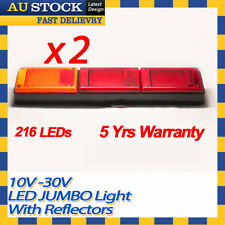 2 X LED Jumbo Tail Light Trailer Caravan Truck UTE Camper with Reflector #1