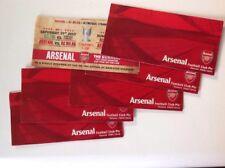 Arsenal entradas de fútbol Emiratos Taza, Carling Cup X6, Liga de Campeones,
