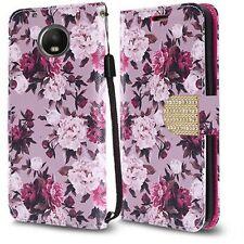 For Motorola Moto G5 PLUS Leather Premium Wallet Case Pouch Flip Phone Cover