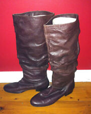 JO MERCER BURGUNDY/BROWN LEATHER KNEE HIGH RIDING BOOTS SIZE: 36 NEAR NEW
