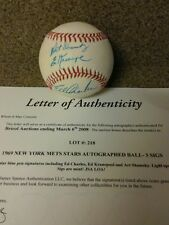 """1969 New York Mets Stars Autograph Ball-3 signatures """"JSA LETTER OF AUTHENTICITY"""