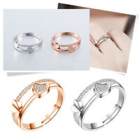Women Heart Knuckle Rings Thumb Stack Jewelry Adjustable Love Wedding  Ring Gift