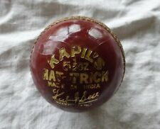 Kapil Dev Autograph Hat Trick Rk Mahajan Rkm 51/2 Oz Red Leather Cricket Ball