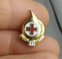 Vintage American Red Cross 1 Gallon Donor pin pinback button *QQ5