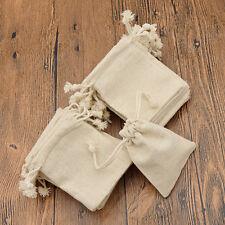 30 Pcs Mini Burlap Natural Linen Jute Sack Drawstring Gift Bags Jewelry Pouch