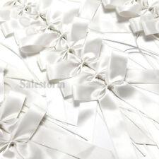 50x Antennenschleifen Autoschleifen Autoschmuck Schleifen Hochzeitsdeko Weiß