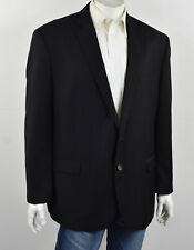 RALPH LAUREN Solid Black Seasonless Wool 2-Button Suit Jacket Blazer 50R