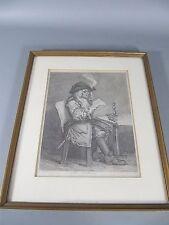 "alter Stahlstich W. Hogarth ""The Politician"" ca. 1830"