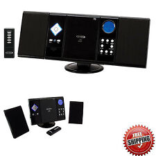 Stereo System Home Wall Mount CD Player Shelf Audio Speakers Compact AM/FM Radio