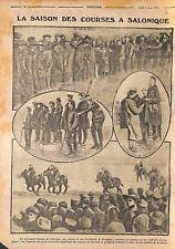 Horse racing Course de Chevaux Salonique Thessaloniki Tommies Greece WWI 1916