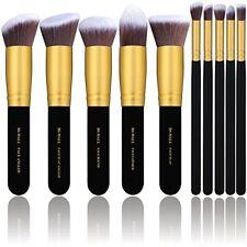 Set De 10 Brochas Y Pinceles Para Maquillaje Profesional Cerdas Sintéticas