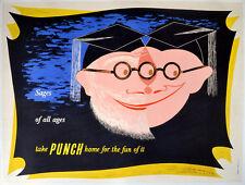 Sages de tous âges, prendre Punch 1949 Frederick Henri Kay HENRION UK Poster