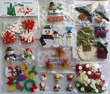CLEARANCE 10 Packs Mixed Christmas Embellishments Set 1 / Adornos de Navidad