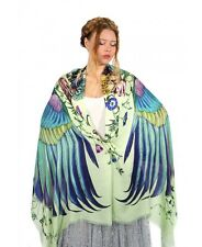 Sublime Wings Flowers Scarf, 100% Cotton Hand Painted Shawl