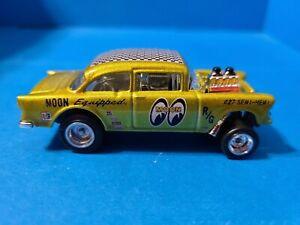 Hot Wheels '55 Bel Air Gasser CUSTOM Loose Mooneyes. 1/64 scale