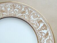 """WEDGWOOD GOLD FLORENTINE W4219  9"""" LUNCHEON PLATE 1ST QUALITY (Ref6047)"""