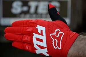 Fox Dirtpaw Race MTB Downhill Motocross Long Gloves Red