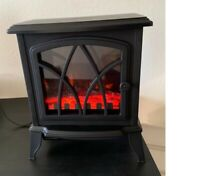 1500W Electric Fireplace Stove Heater Infrared Space With 3D Flame Effect