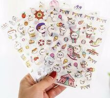 Budding Pop Stickers Kawaii Cute Decorative Sticker Scrapbooking Planner 6 Sheet