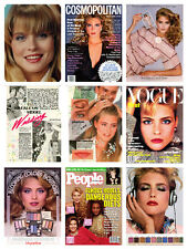 Kim Alexis HUGE collection / lot magazine articles clippings & photos   S1