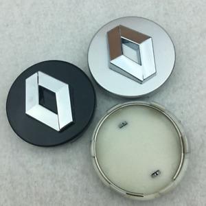 "4X 60mm 2.36"" Silver Black Wheel Center Hub Caps Rim Cover Fit For RENAULT Badge"