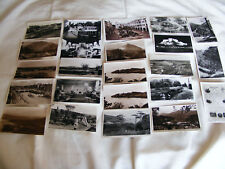 Postcards 23  B & W  With Some Real Photograph c1960 British I.O.W. China Town +