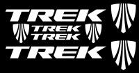 Trek Bicycle Frame Decal Sticker Set MTB/Road Bike (Gloss White)