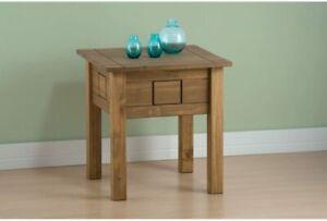 Birlea Santiago Side Coffee Nest Table W50cm x H52cm in Rustic Waxed Pine Wood