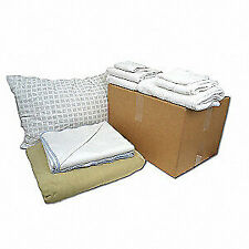 R & R TEXTILE Bedding/Bath Kit,Emergency Shelter,Dorms, X90001, White/Beige
