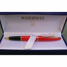 WATERMAN CARENE CORAL ORANGE & GOLD TRIM  ROLLERBALL   PEN NEW   IN BOX