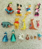 Bundle Of Disney Plastic Figures Mickey Donald Goofy Winnie Pooh & Friends