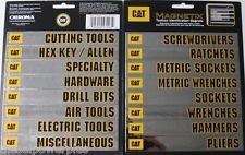 16 Caterpillar CAT tool box magnets snap on matco craftsman label drawer MAC new