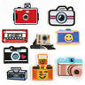 Cartoon Camera Badge Embroidered Sew Iron On Patches Clothing Fabric Appliques