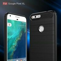 For Google Pixel XL Shockproof Hybrid Slim Armor Carbon Fiber Brushed Cover Case